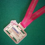 Helen's Medal from the London Marathon 2013